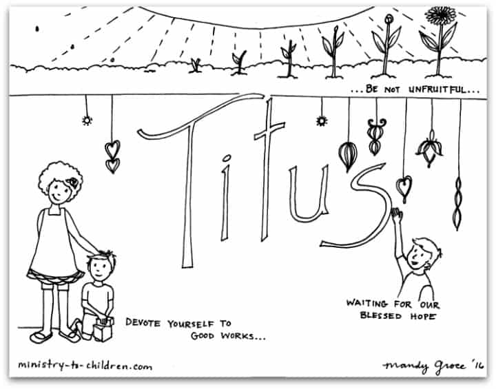 Book of Titus Coloring Page