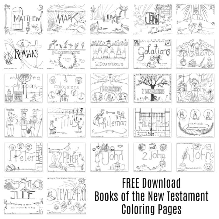 New Testament Coloring Pages Free Download All 27 Books Ministry