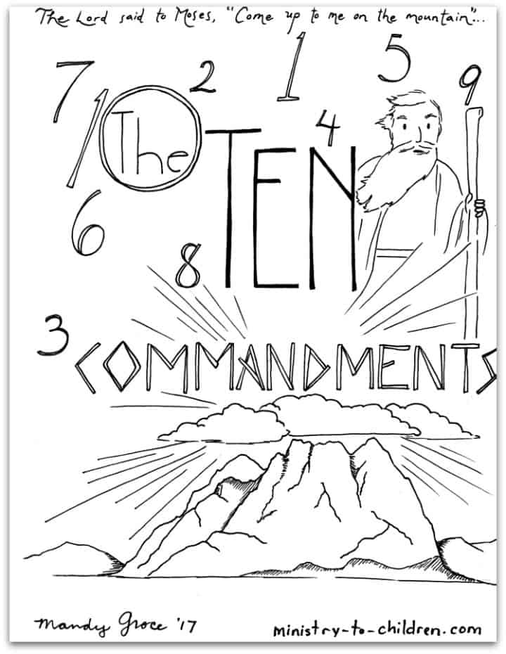 10 Commandments Coloring Book [Free Printable PDF] Pages