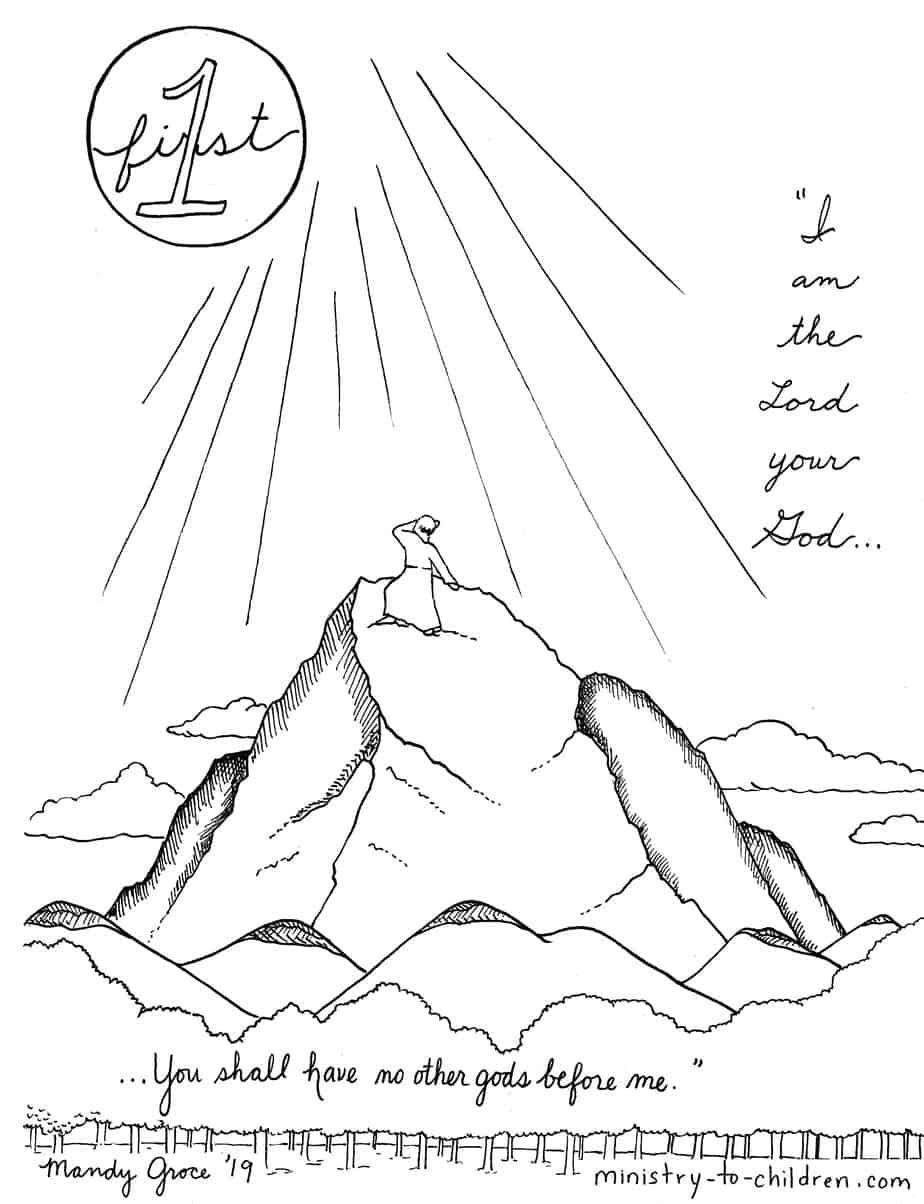 1st Commandment Coloring Page