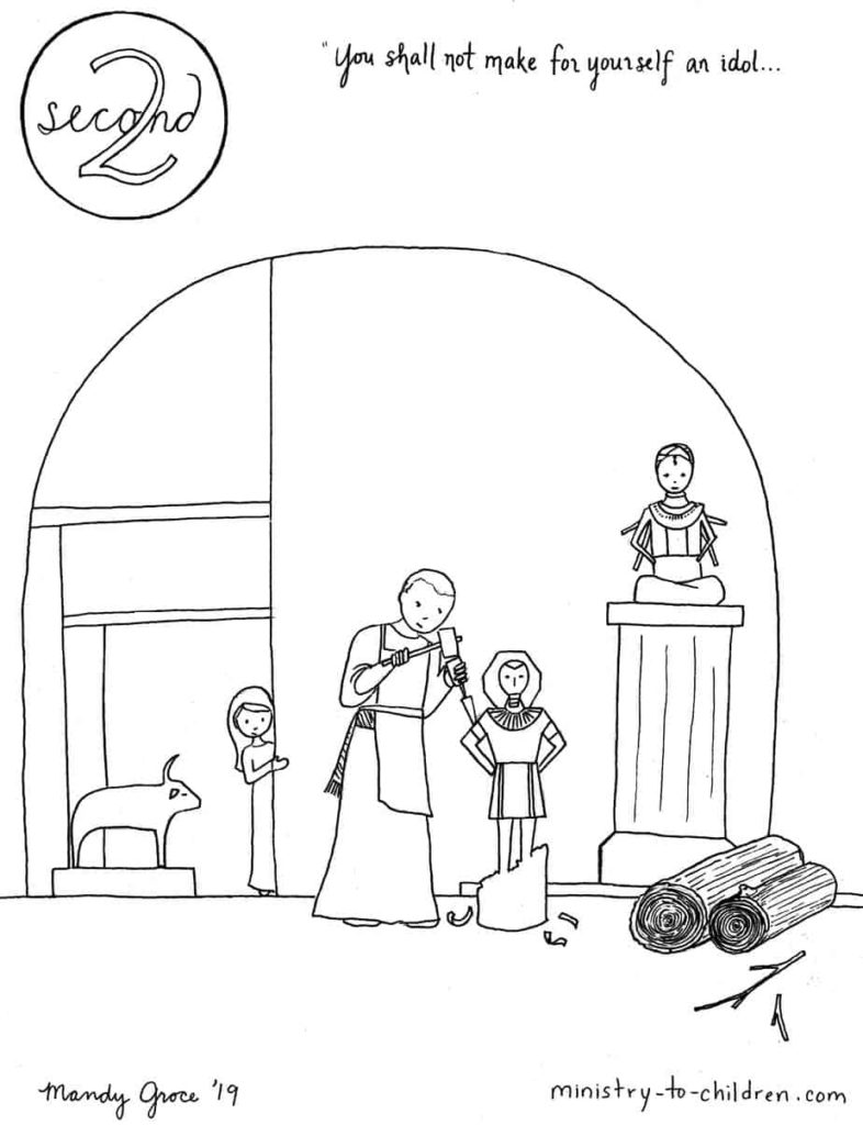 2nd Commandment Coloring Page