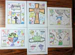 Kids Bible Coloring Pages - Jesus is My King