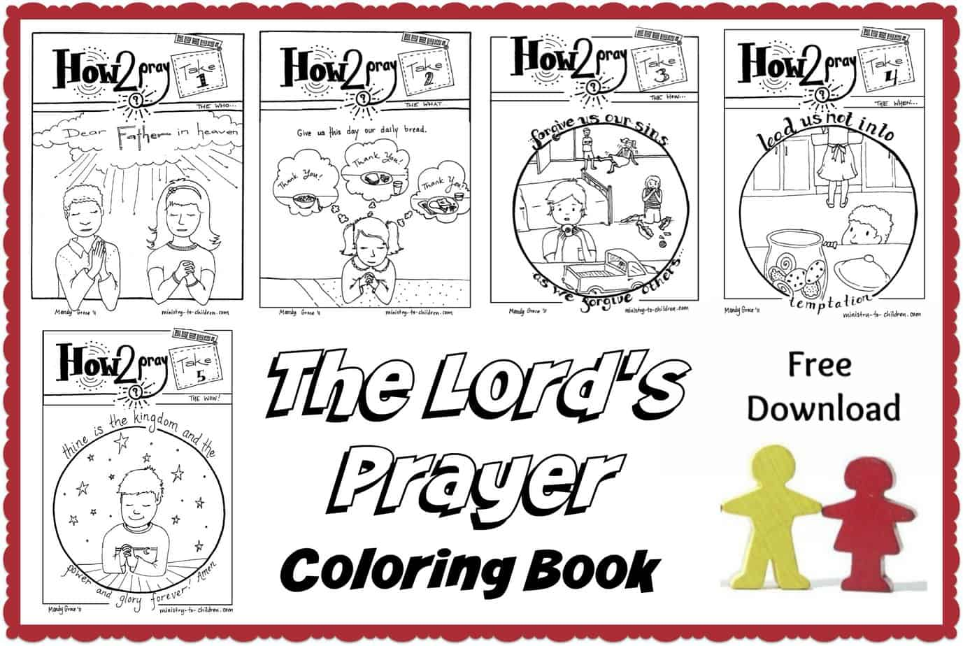 The Lord S Prayer For Kids Free Lessons Activities Coloring Pages
