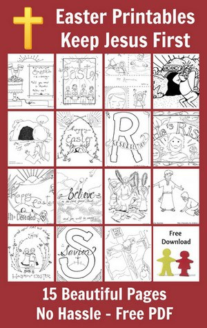 Religious Easter Bible Coloring Pages for Kids