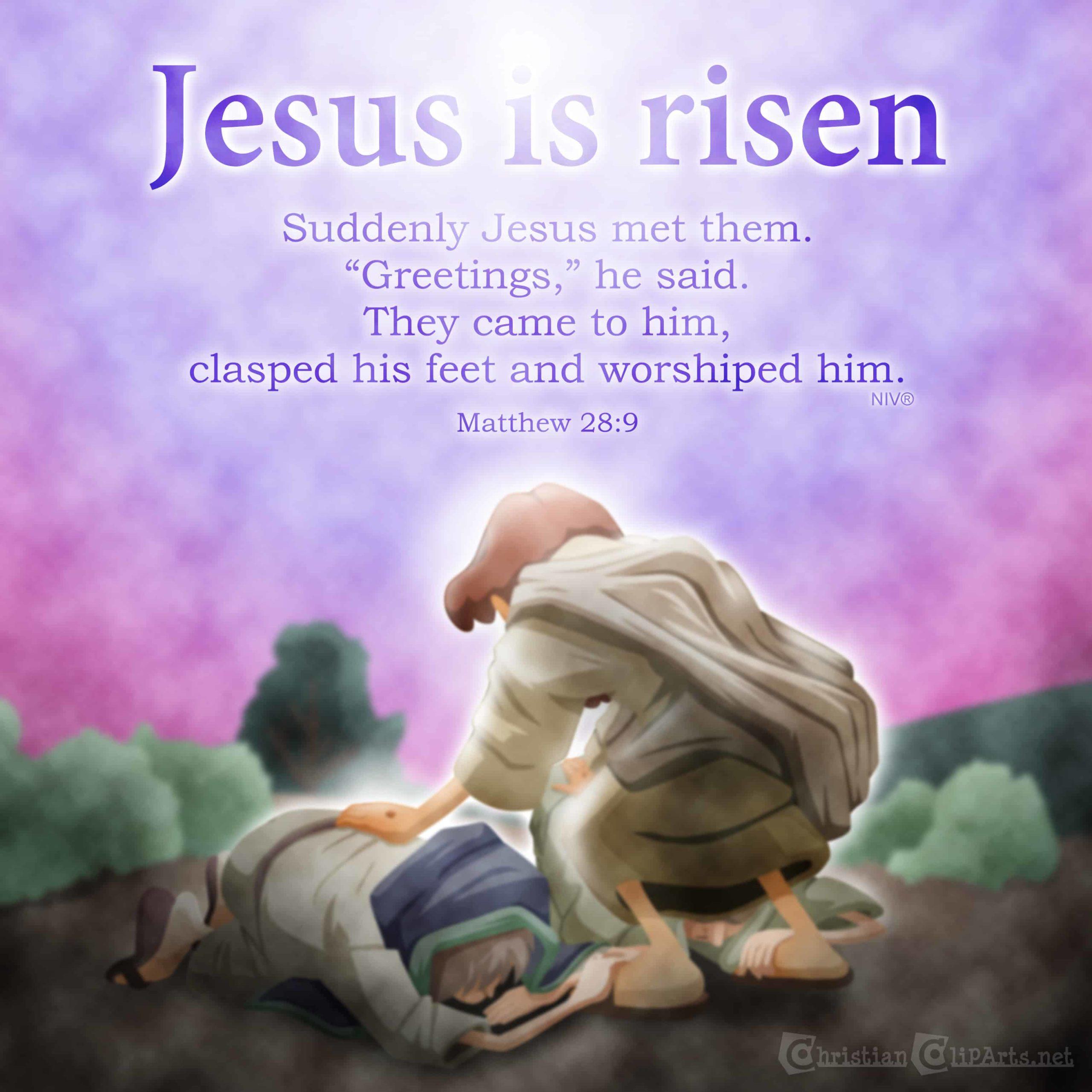 He Has Risen! (Luke 23-24) Sunday School Lesson for Easter    Ministry-To-Children [ 2560 x 2560 Pixel ]