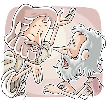 Jesus and Doubting Thomas Clip Art