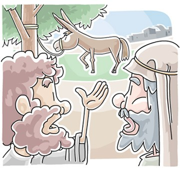 Donkey or Jesus Triumphant Entry clip art illustration