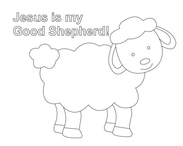Preschool coloring page - Jesus is my good shepherd