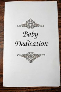 baby dedication ceremony order of service ideas