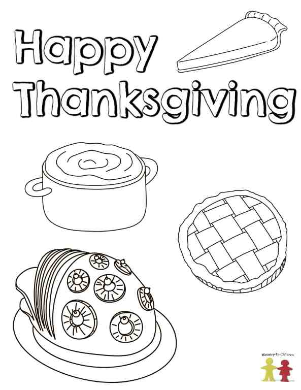 Thanksgiving Coloring Pages Free Printable For Kids
