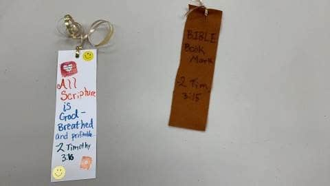 Bible Bookmark Crafts for Sunday School