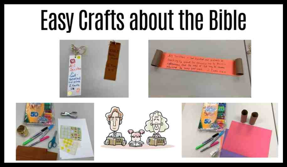 craft ideas about the bible, scripture, gods word