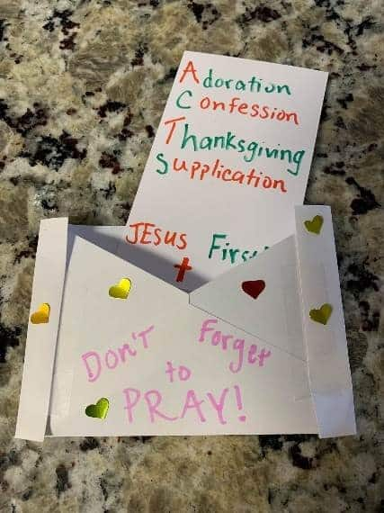 Prayer Envelop Craft