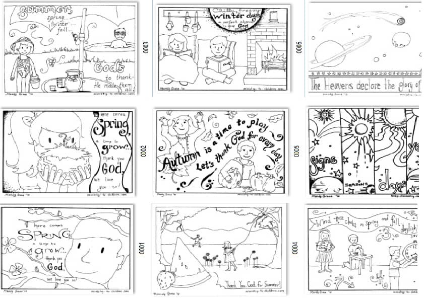 Seasonal Coloring Pages for Kids (free printables)