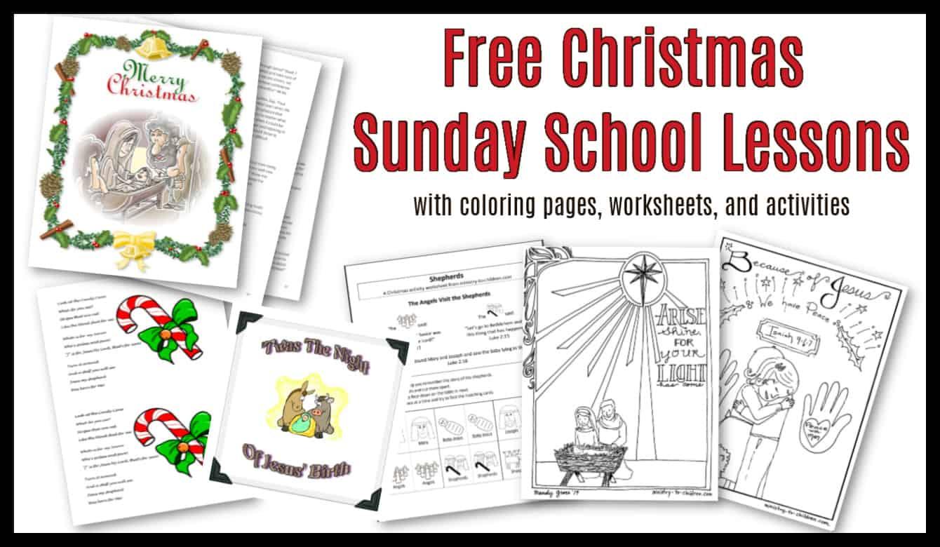 30 Christmas Sunday School Lessons \u0026 Activities (100% Free) Children's  Church Curriculum [ 780 x 1340 Pixel ]
