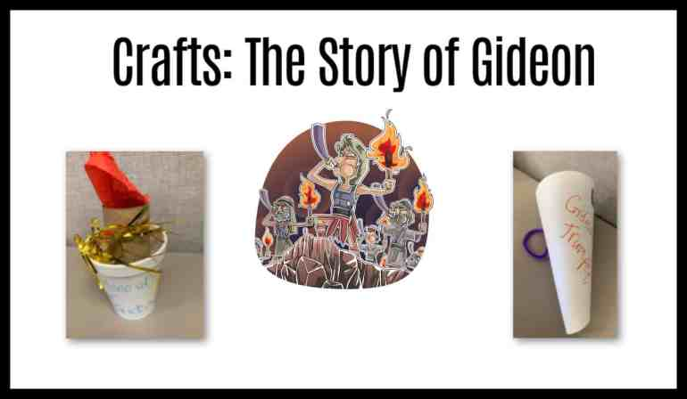 Craft Ideas on Gideon for Kids Sunday School Projects