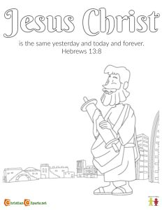 jesus never changes coloring page