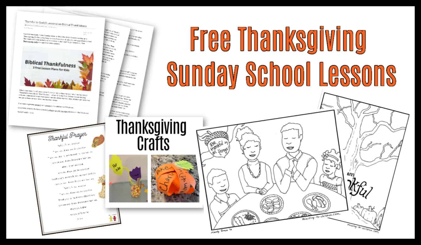 hight resolution of Thanksgiving Sunday School Lesson \u0026 Kids Bible Activities (100% Free) PDF  Printable Ideas for Children's Church