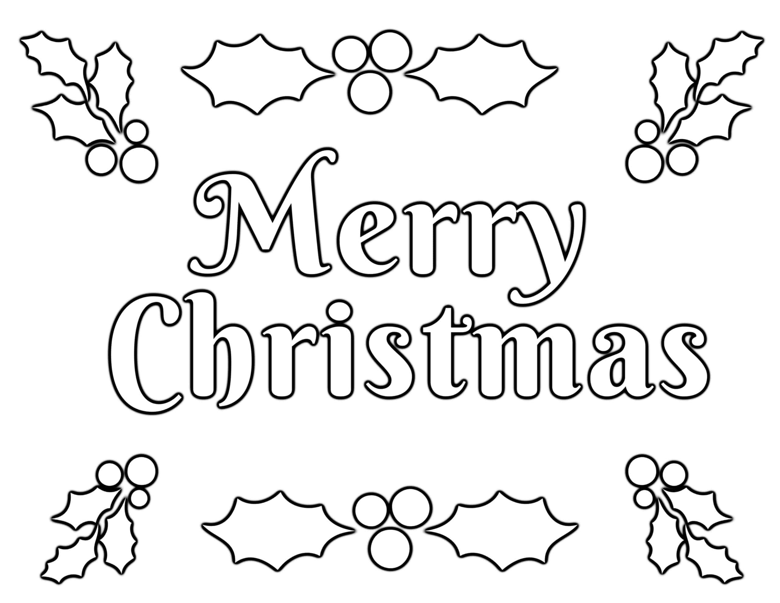 Christmas Coloring Pages for Kids (100% FREE) Easy Printable PDF [ 1978 x 2560 Pixel ]