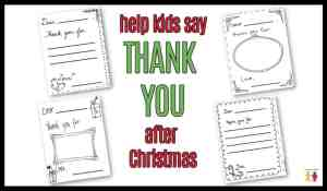 "Christmas ""Thank You Cards"" Coloring Page"