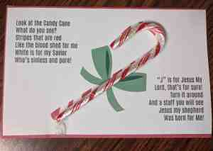 Candy Cane Poem about Jesus (Free Printable)