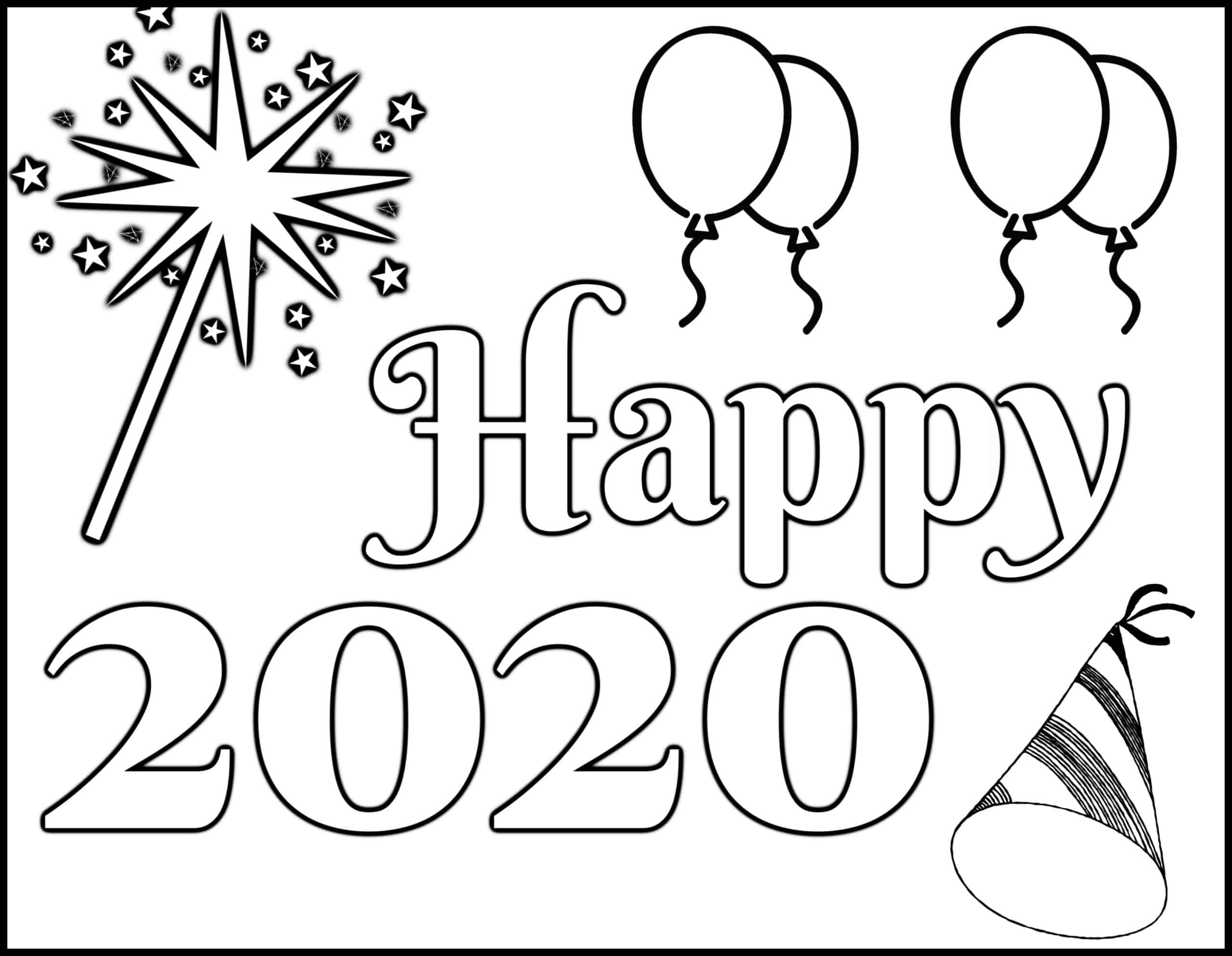 New Year S Coloring Page Let Your Light Shine Free