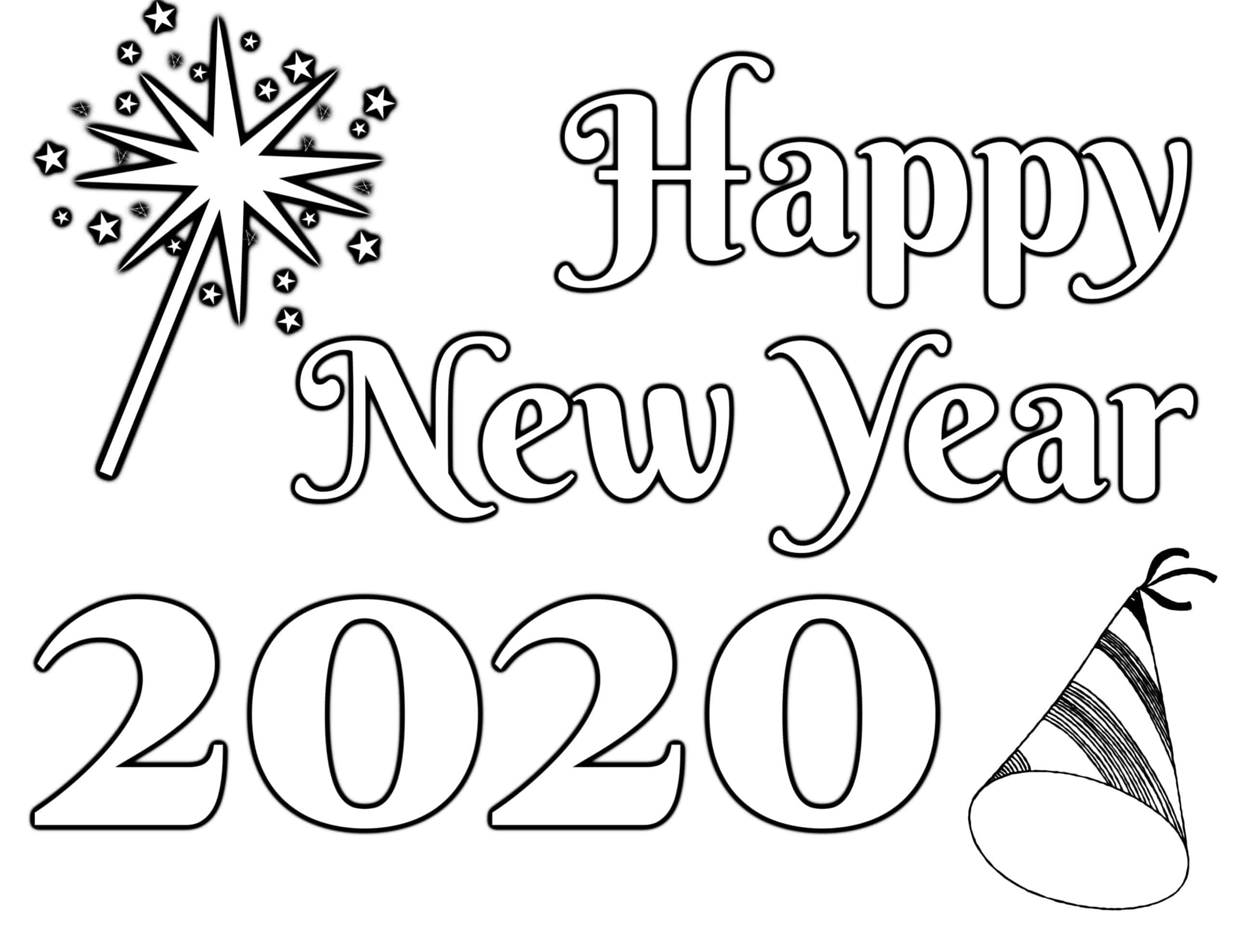 New Year's Coloring Page 2020