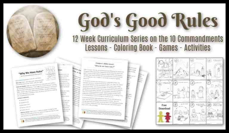 """God's Good Rules"" Curriculum for Kids - A Bible Lesson Series for Kids on the 10 Commandments"