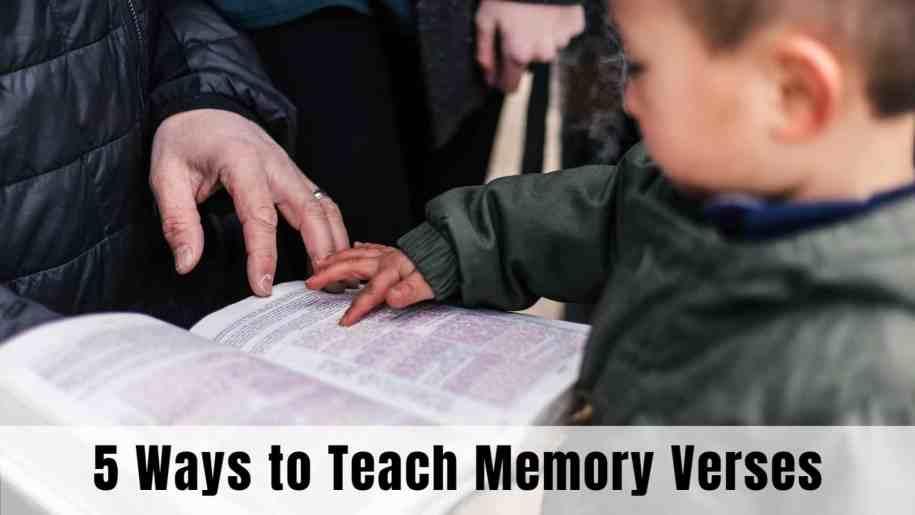 how to teach children bible verses