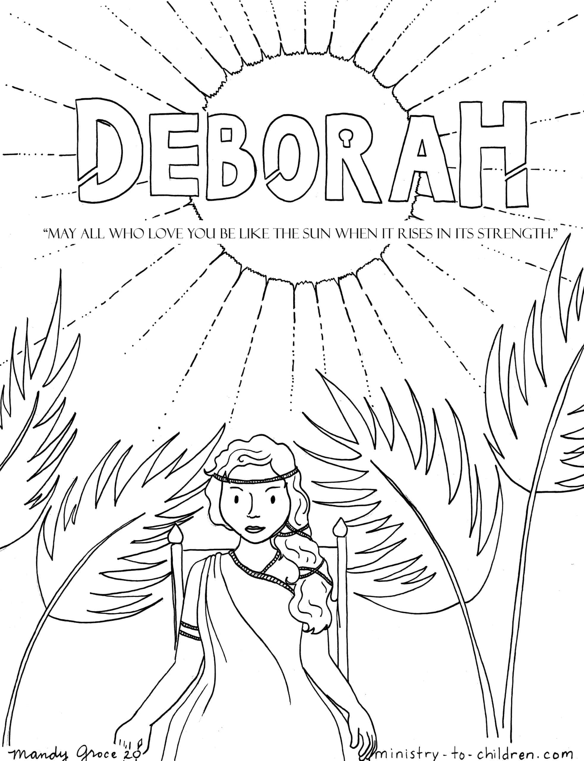 Deborah Coloring Page Ministry-To-Children
