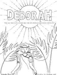 Deborah Judge of Israel - Bible Coloring Page