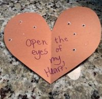 Open the eyes of my heart craft