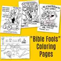April Fools Coloring Page - Religious Themes