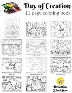 Days of creation coloring page