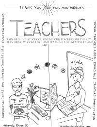 coloring page teachers are heroes