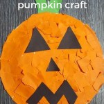 pumpkin craft with Paper Plates