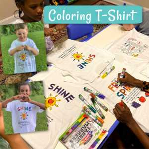 coloring t-shirt craft for childrens ministry