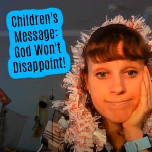 Simeon and Anna children's sermon