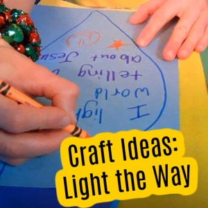 Bible Crafts on Jesus is the Light of the World