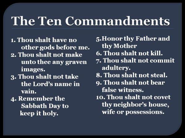 10 commandments of god # 25