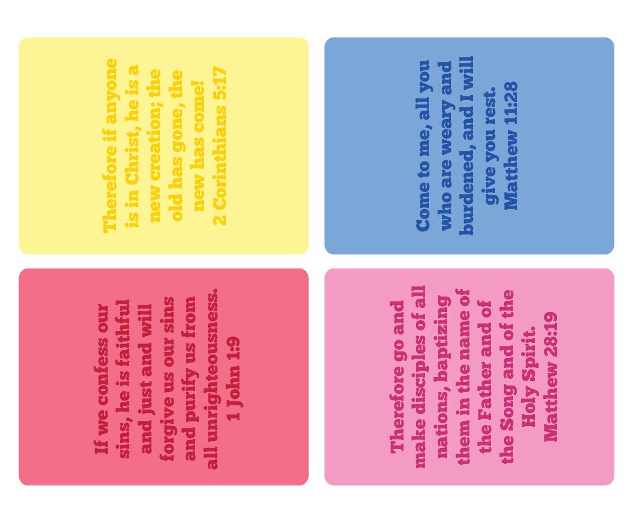 3x4 Inch Bible Verse Cards Ministryark