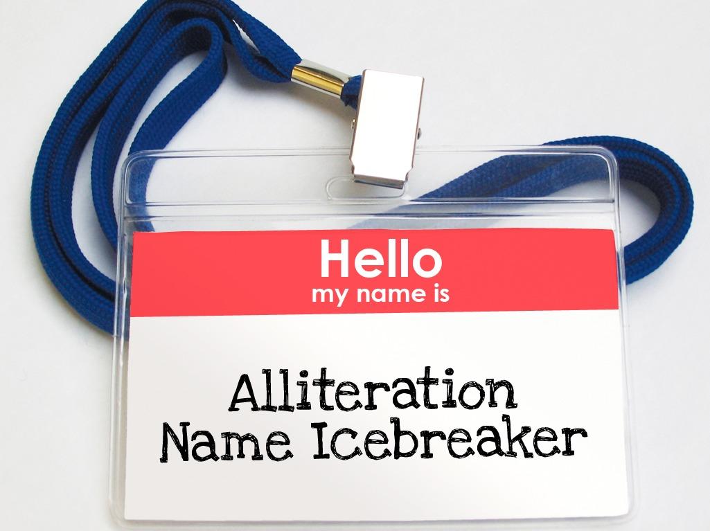 Alliteration Name Icebreaker