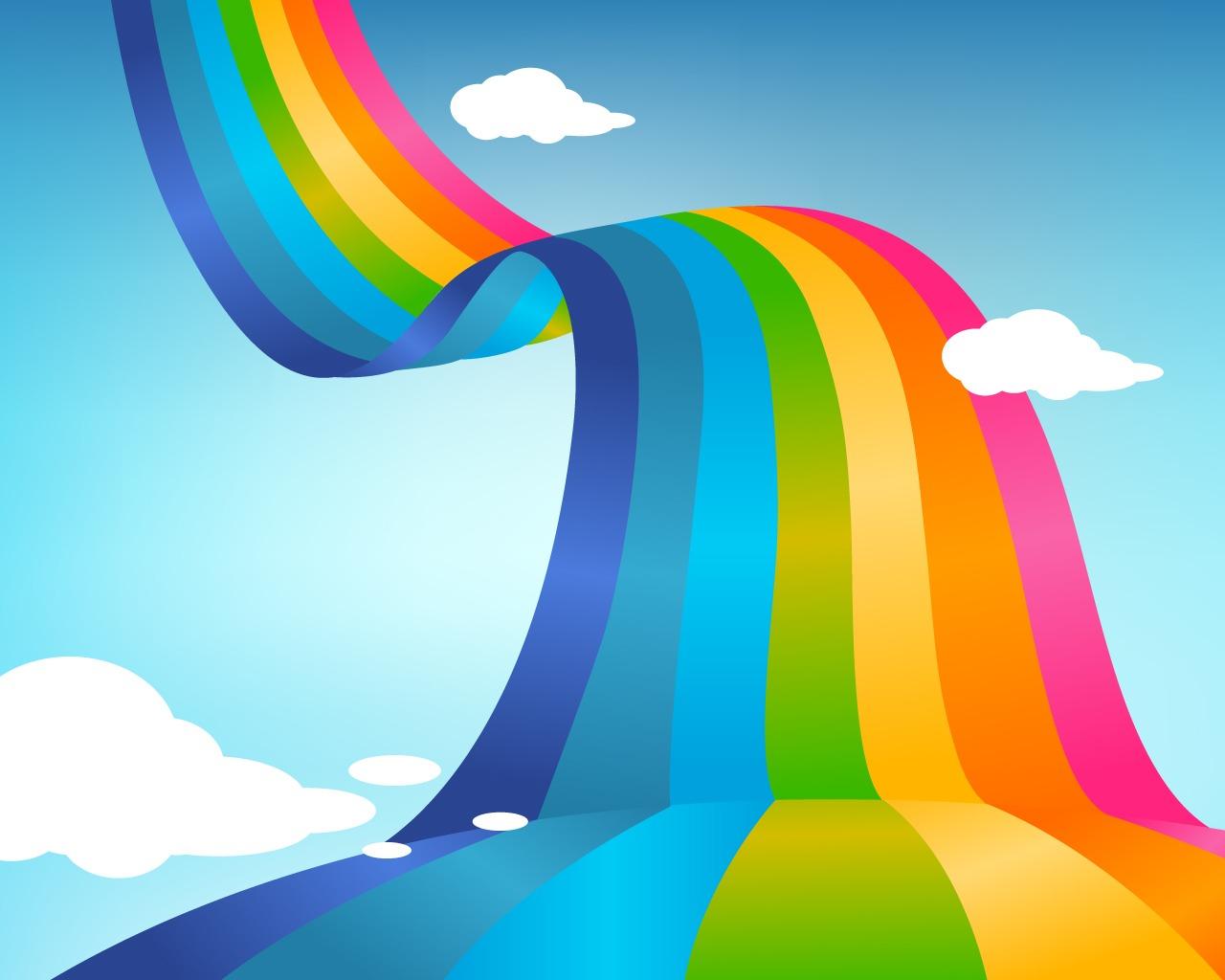 Картинки рисунков с радугой