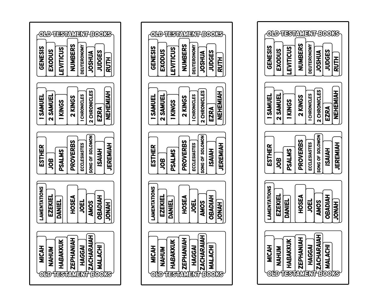 Bible Bookcase Bookmarks Ministryark