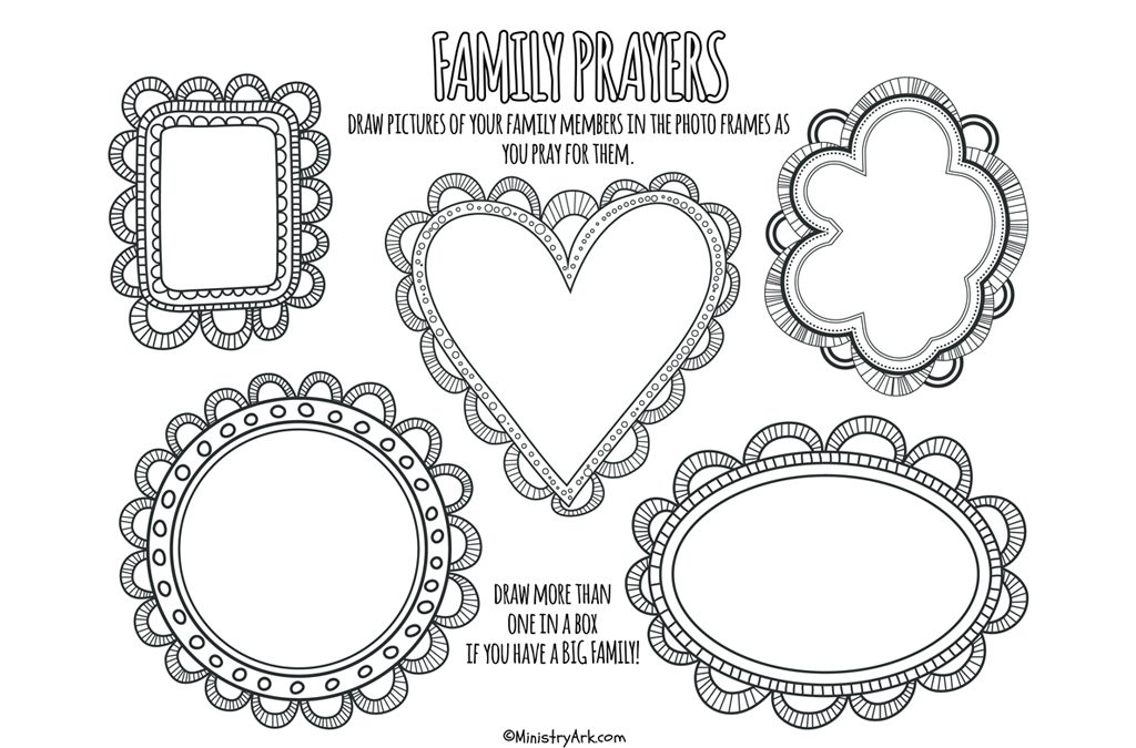 Family Prayers Printable • MinistryArk