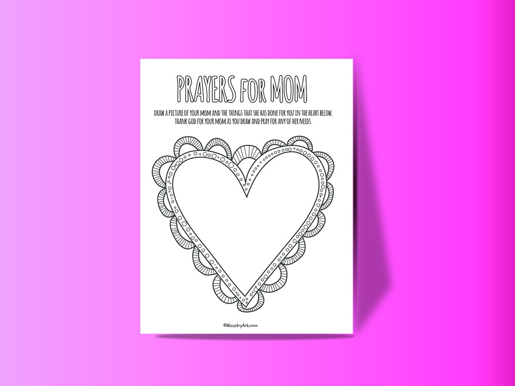 Prayer for Mom Printable
