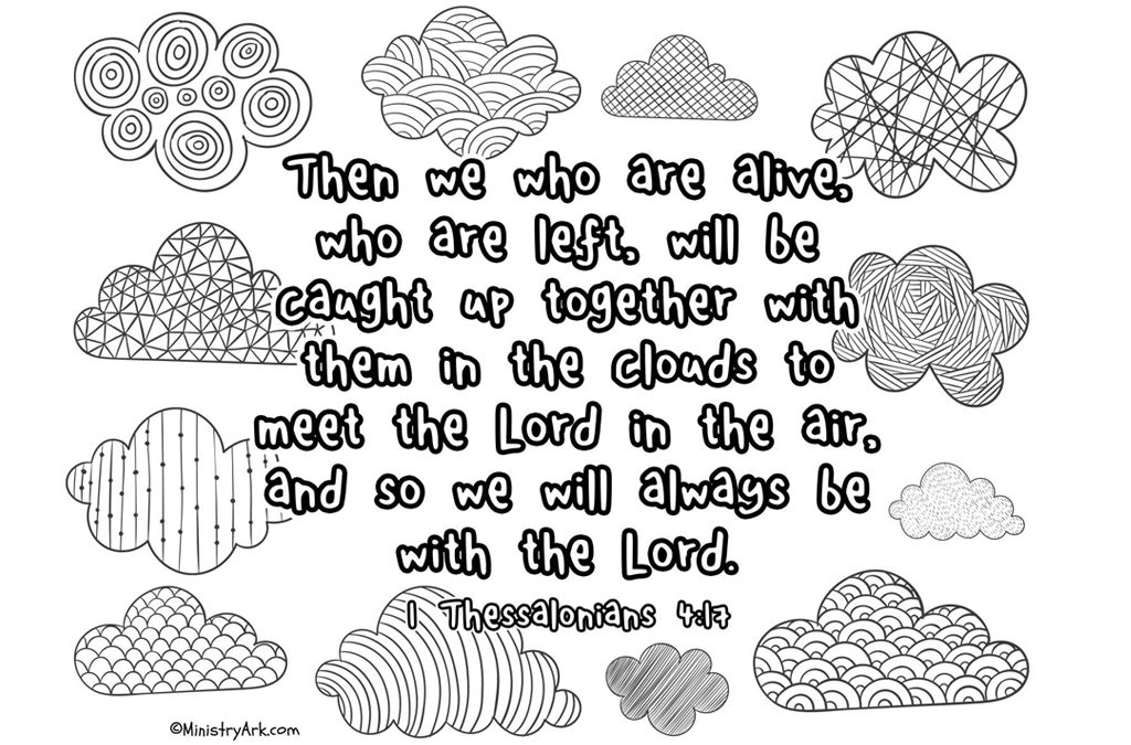1 Thessalonians 4:17 Printable • MinistryArk