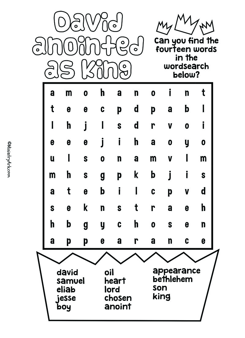 Activity Sheet Printables • MinistryArk