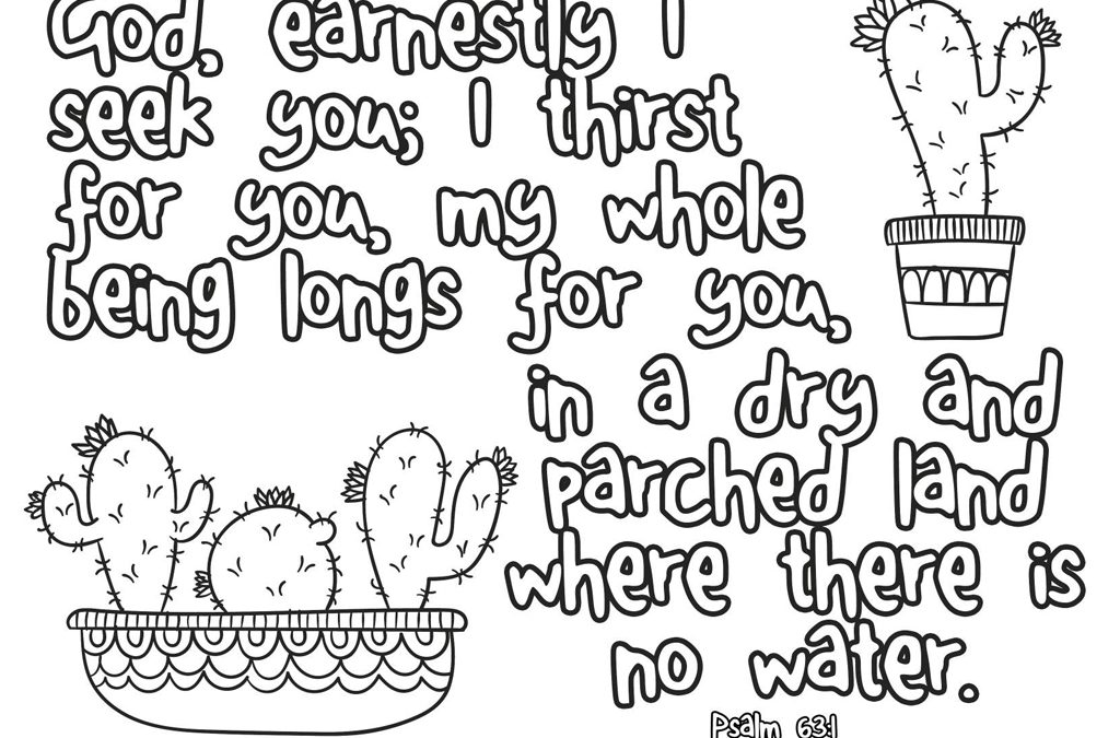 Dry and Parched Land Printable (Psalm 63:1) • MinistryArk