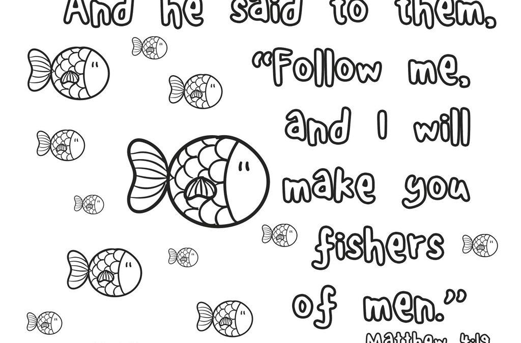 'Fishers of Men' Printable (Matthew 4:19) • MinistryArk